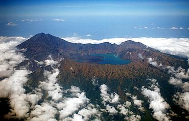 Rinjani Volcano, Arial view, Indonesia, Lombok, Lesser Sunda Islands