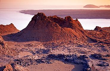 Volcano on the Galapagos island Bartholomé, Bartholomew, Ecuador, South America, Galápagos, Galapagos, Island, Pacific Ocean