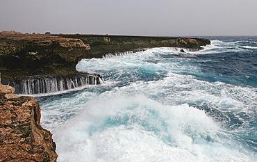 Storm on the coast, Netherlands Antilles, Bonaire, Caribbean Sea, Washington Slagbaai National Park, Suplad—
