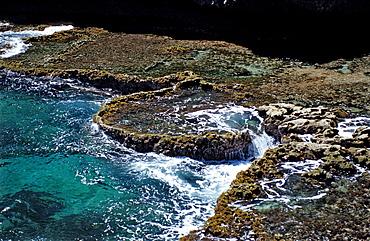 Stone terraces, Netherlands Antilles, Bonaire, Caribbean Sea, Washington Slagbaai National Park, Boka Kokolishi