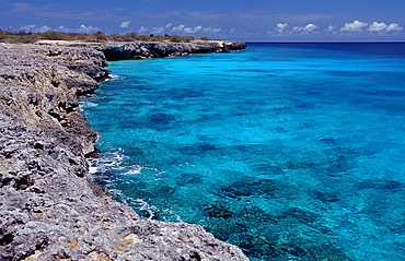 Coastel scenic of Bonaire, Netherlands Antilles, Bonaire, Caribbean Sea, Washington Slagbaai National Park, Wayaka