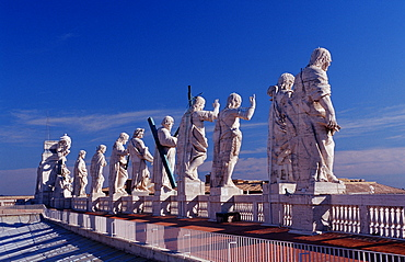Statues of saints, St Peters Basilica, Italy, Rome, Vatican City
