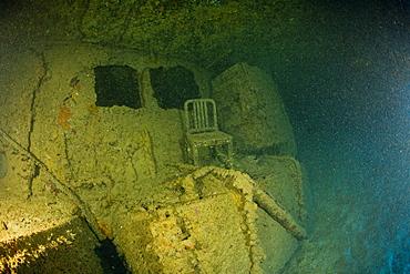 Wreckage of USS Arkansas Battleship, Marshall Islands, Bikini Atoll, Micronesia, Pacific Ocean