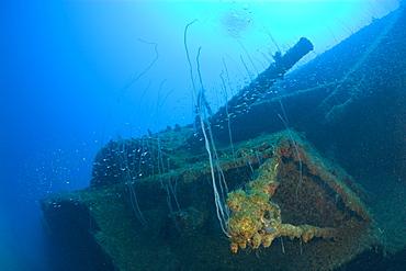 12-inch Gun of USS Arkansas Battleship, Marshall Islands, Bikini Atoll, Micronesia, Pacific Ocean