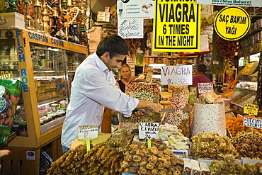 Sweets at Spice Bazaar, Istanbul, Turkey