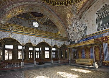 Sultans Hall, Topkapi Palace, Istanbul, Turkey
