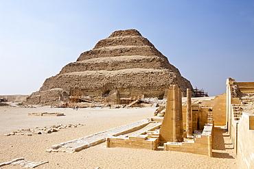 Saqqara Step Pyramid of Pharaoh Djoser, Saqqara, Egypt