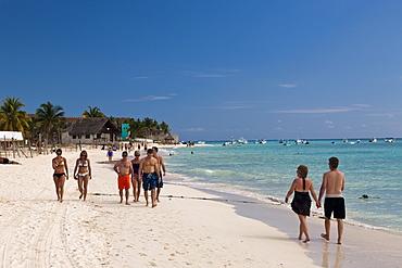 Beach Playa del Carmen, Riviera Maya, Yucatan Peninsula, Caribbean Sea, Mexico