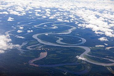 Course of Mamberamo River, West Papua, Indonesia, Southeast Asia, Asia