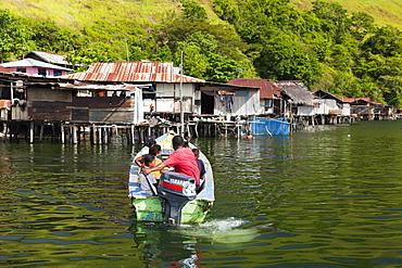 Boat trip on Lake Sentani, Jayapura, West Papua, Indonesia, Southeast Asia, Asia