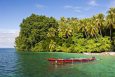Lagoon of Ahe Island in Cenderawasih Bay, West Papua, Indonesia, Southeast Asia, Asia
