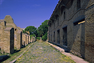 Warehouses, Via Dei Molini, Ostia Antica, Lazio, Italy, Europe