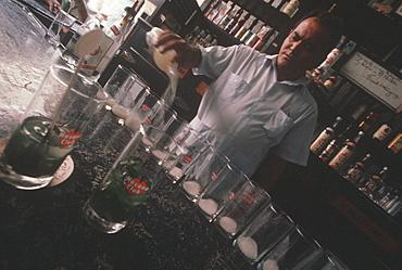 La Bodequita del Medio, a favorite Ernest Hemingway bar where he always had a traditional Mojito cocktail, Habana Vieja, Havana, Cuba