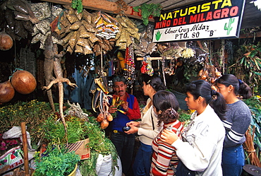 The Mercado de Brujos or Witchcraft Market is one of the largest in S America with many choices of herbal medicines, potions & charms, Chiclayo, North Coast, Peru