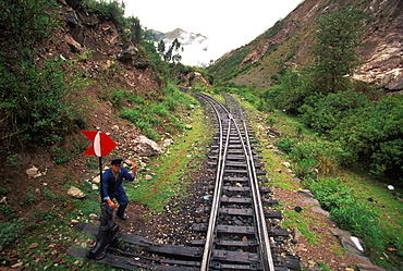 One of the world's most famous train rides thru Inca Sacred Valley from Cuzco to Machu Picchu, Peru