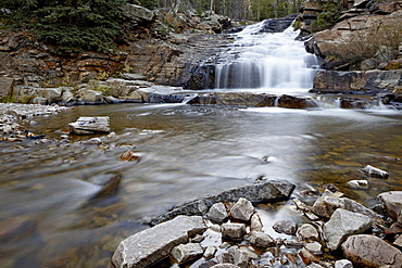Provo Falls, Wasatch-Cache National Forest, Utah, United States of America, North America