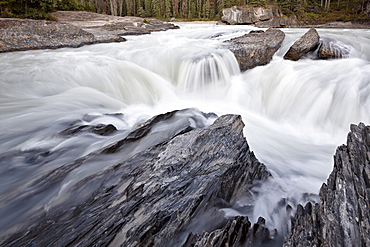 Falls on the Kicking Horse River, Yoho National Park, UNESCO World Heritage Site, British Columbia, Canada, North America
