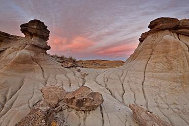 Badlands, Dinosaur Provincial Park, UNESCO World Heritage Site, Alberta, Canada, North America