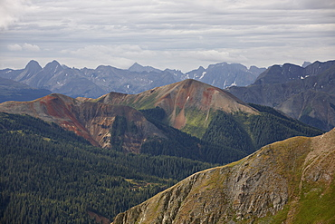 San Juan Mountains from Black Bear Pass Road, San Juan National Forest, Colorado, United States of America, North America