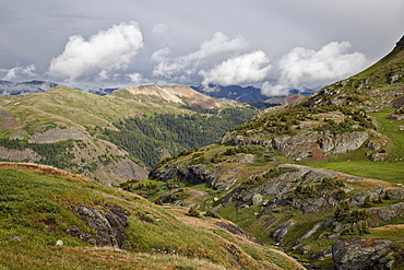 Clouds over the San Juan Mountains, San Juan National Forest, Colorado, United States of America, North America