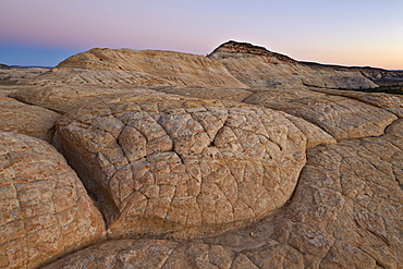 Sandstone hill at dusk, Grand Staircase-Escalante National Monument, Utah, United States of America, North America