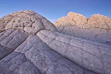 Brain Rock at dusk, White Pocket, Vermilion Cliffs National Monument, Arizona, United States of America, North America