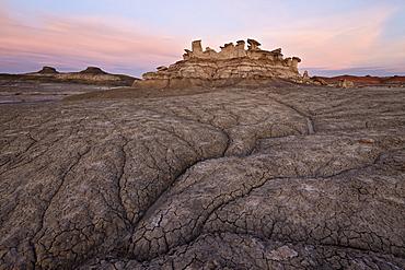 Badlands at dawn, Bisti Wilderness, New Mexico, United States of America, North America