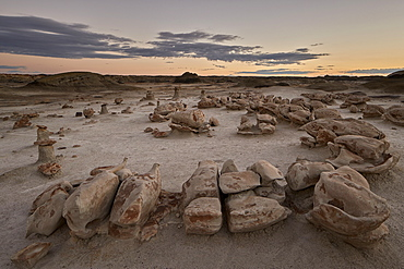 Egg Factory at dawn, Bisti Wilderness, New Mexico, United States of America, North America