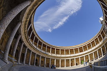 Palace of Charles V, Alhambra, UNESCO World Heritage Site, Granada, Province of Granada, Andalusia, Spain, Europe
