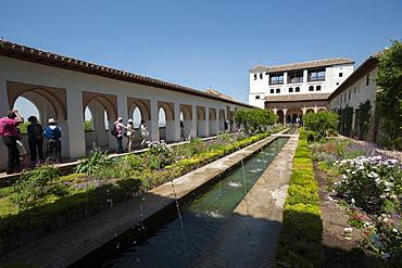 Generalife, Alhambra, UNESCO World Heritage Site, Granada, Province of Granada, Andalusia, Spain, Europe