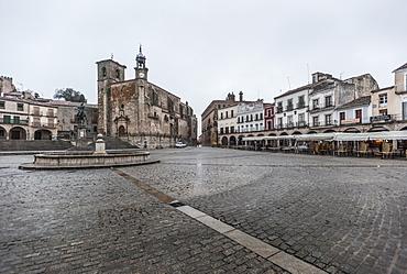 The Plaza Mayor, Trujillo, Caceres, Extremadura, Spain, Europe