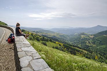 The French Way of the Way of St. James, O Cebreiro, Lugo, Galicia, Spain, Europe