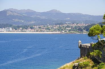 View from the Parador de Baiona, Baiona, Pontevedra, Galicia, Spain, Europe