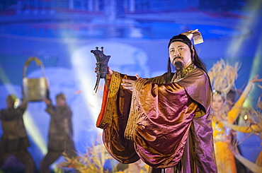 History performance at Wuliangye alcoholic beverage company, Yibin, Sichuan Province, China, Asia