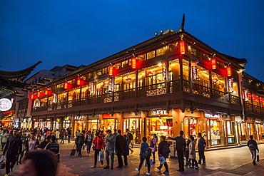 Pedestrian Street, Nanjing, Jiangsu province, China, Asia