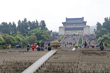 Mausoleum of Dr. Sun Yat-sen, Nanjing, Jiangsu province, China, Asia