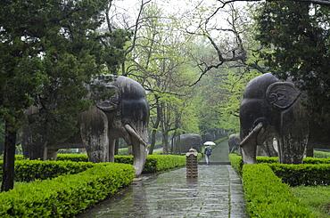 Xiaoling Tomb, Nanjing, Jiangsu province, China, Asia