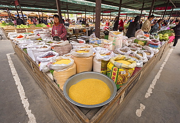 Market, Hancheng, Shaanxi Province, China, Asia