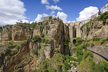 Puente Nuevo in Ronda, province of Malaga, Andalusia, Spain, Europe
