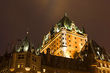 Fairmont le Chateau Frontenac hotel, Quebec City, province of Quebec, Canada, North America