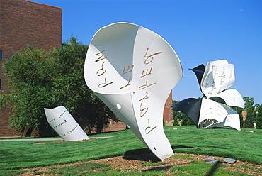 Torn Notebook sculpture, Lincoln, Nebraska, United States of America, North America