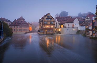 The River Regnitz, Bamberg, Bavaria, Germany, Europe