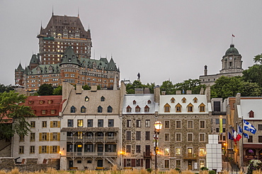 Quebec City with Chateau Frontenac on skyline, Province of Quebec, Canada, North America