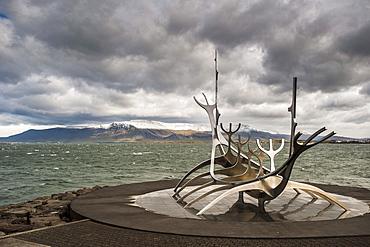 Solfar (Sun Voyager) sculpture by Jon Gunnar Arnason in Reykjavik, Iceland, Polar Regions
