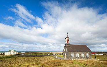 Hvalneskirkja stone church in Hvalnes, Reykjanes Peninsula, Iceland, Polar Regions