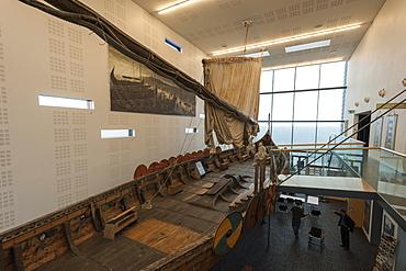 Vikingaheimar, home of the Viking Ship Islendingur, Keflavik, Reykjanes Peninsula, Iceland. Polar Regions