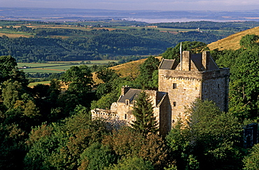 Castle Campbell, dating from the 15th century, at head of Dollar Glen, Dollar, Clackmannanshire, Scotland, United Kingdom, Europe