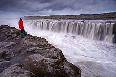 Selfoss waterfalls in Jokulsargljufur National Park, north Iceland (Nordurland), Polar Regions