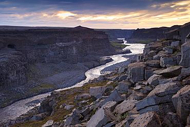 Jokulsargljufur canyon, made by river Jokulsa a Fjollum, Jokulsargljufur National Park, north Iceland (Nordurland), Iceland, Polar Regions
