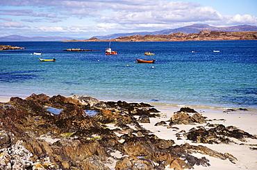 Small boats, Isle of Iona, Inner Hebrides, Scotland, United Kingdom, Europe